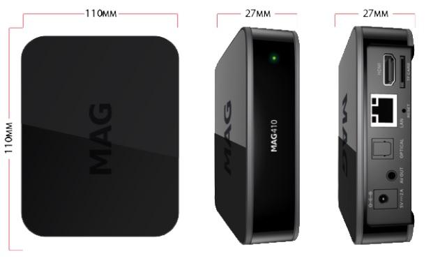 MAGBOX MAG410 IPTV & TOP-BOX TV WIFI 4K